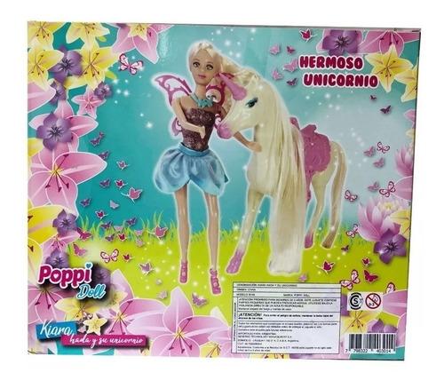 kiara hada y su unicornio poppi doll 5981 creciendo