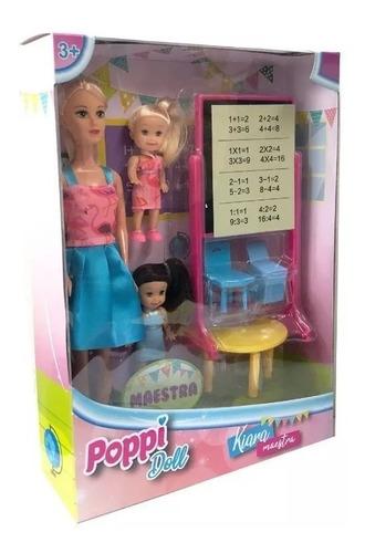 kiara maestra con accesorios poppi doll 5979 creciendo