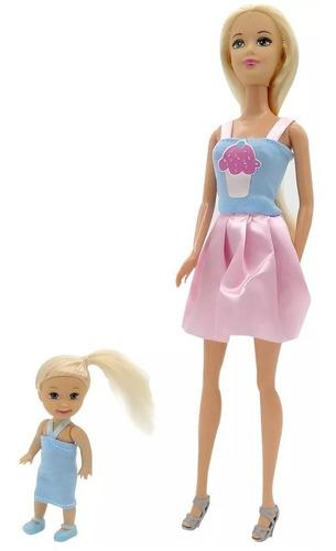 kiara muñeca niñera con bebe y accesorios poppi doll nenas