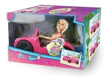 kiara y su auto de playa poppi doll 5980 creciendo
