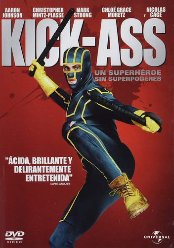 kick - ass aaron johnson nicolas cage pelicula dvd