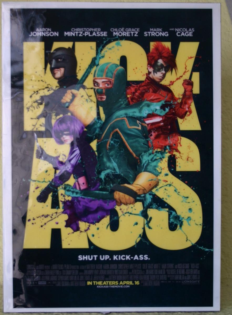 Kick Ass Poster Enmarcado De La Película - $ 389.00 en Mercado Libre