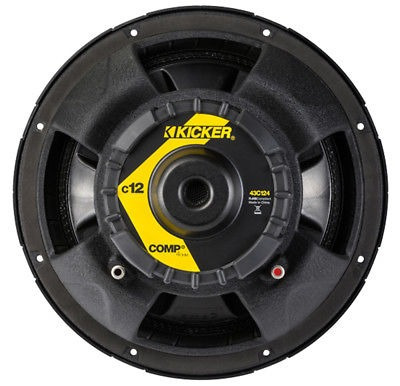 kicker 43c124 12 pulgadas 300 watt comp 4 ohmios serie coche
