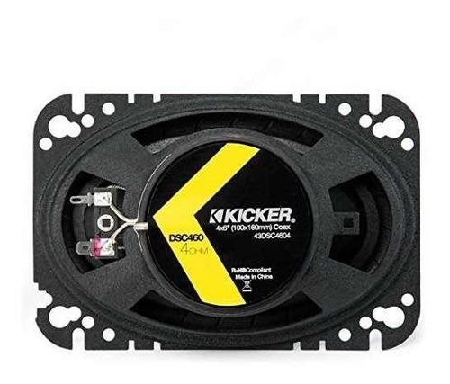 kicker 43dsc4604 4x6  par de altavoces de 2 vías