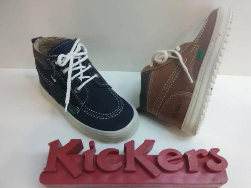 kickers 100 % originales tipo botín de niños del 28 al 33