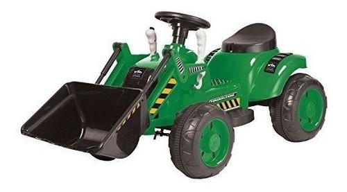 kid motorz 6v tractor ride, verde