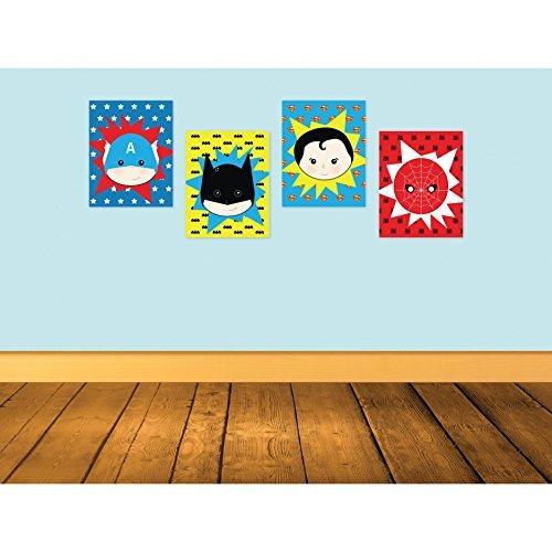 decoraciones de la sala de superman Kid S Sala De Juegos Decoracin Superhroes Carteles Para