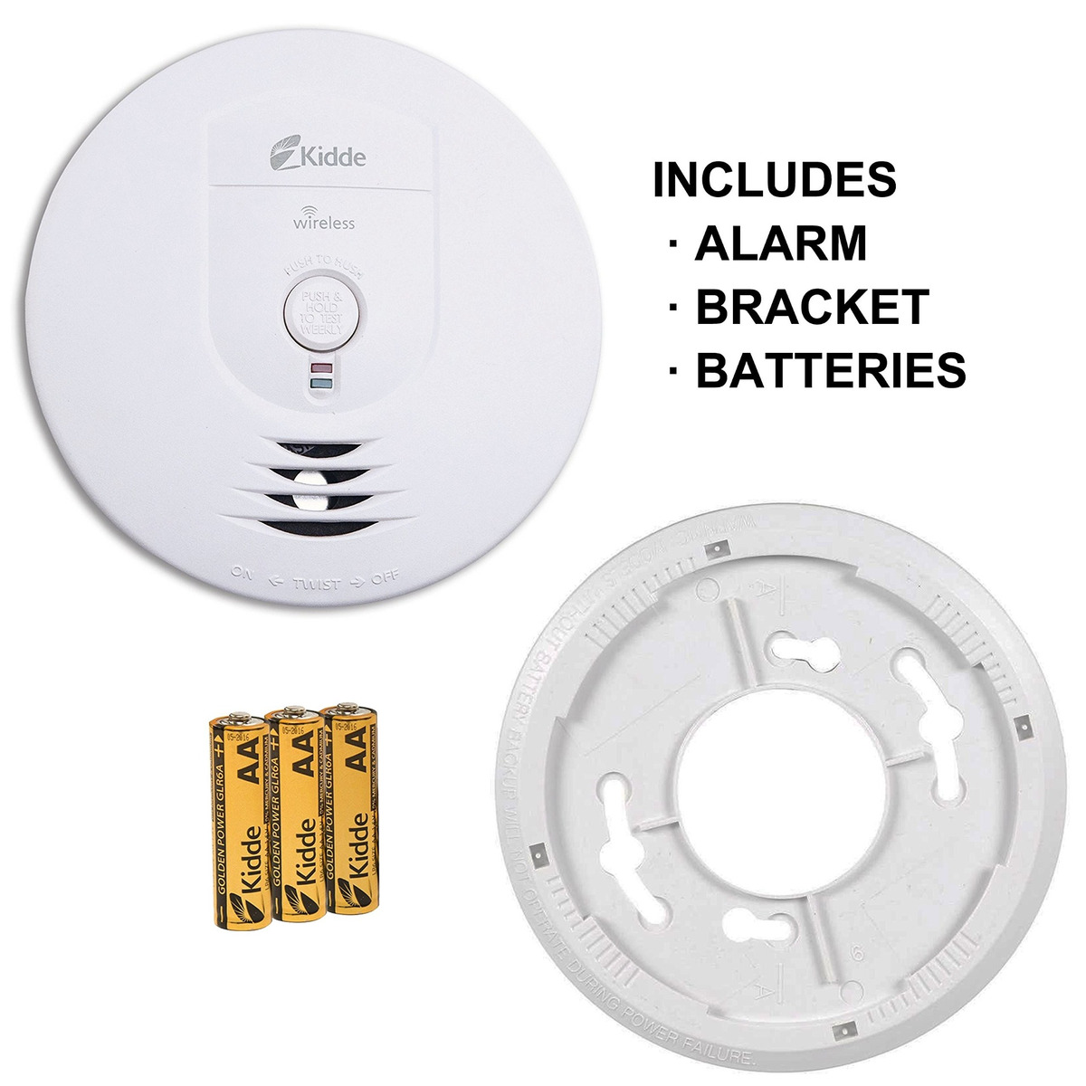 Kidde RF-SM-DC Wireless Interconnect Battery-Operated Smoke Alarm