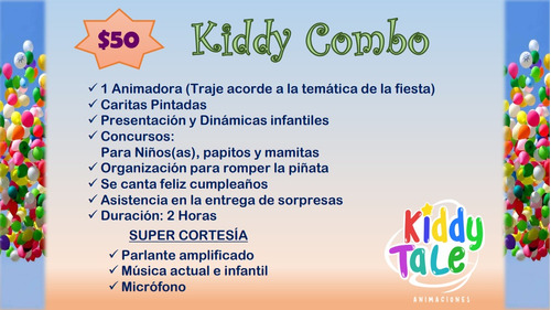 kiddytale animaciones infantiles, baby shower