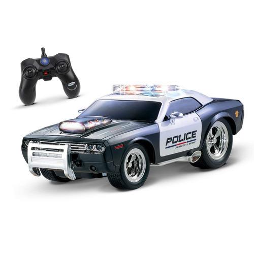 kidirace rc policía de control remoto de coches para niños