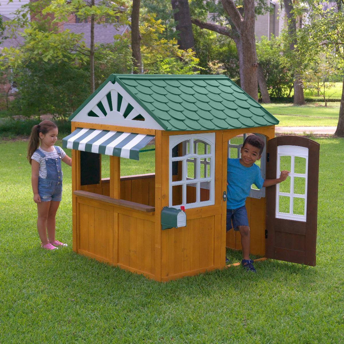Kidkraft casa para jard n ni os o ni as madera 9 500 for Casas madera ninos jardin