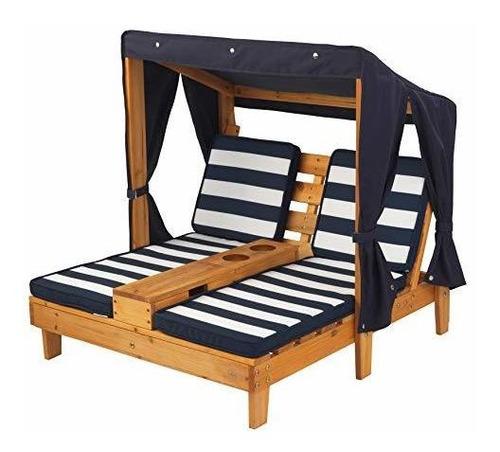 kidkraft chaise lounge navy doble silla aire libre niños