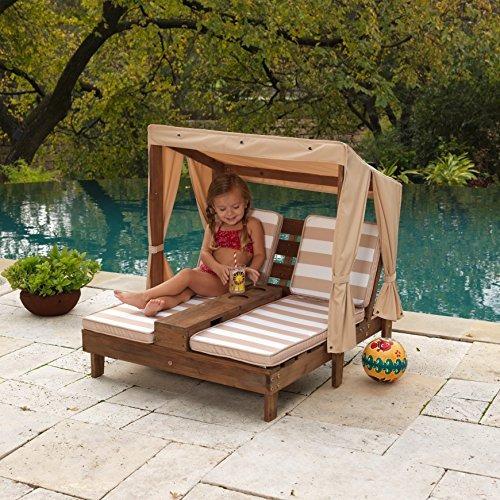 kidkraft doble chaise lounge con portavasos