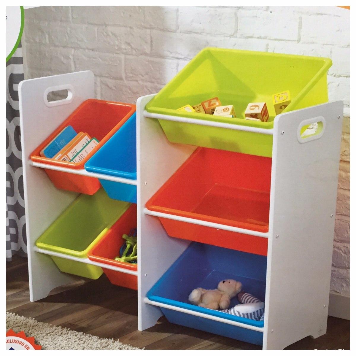 Kidkraft juguetero estanteria con 7 cubos para juguetes - Estanterias para juguetes ...