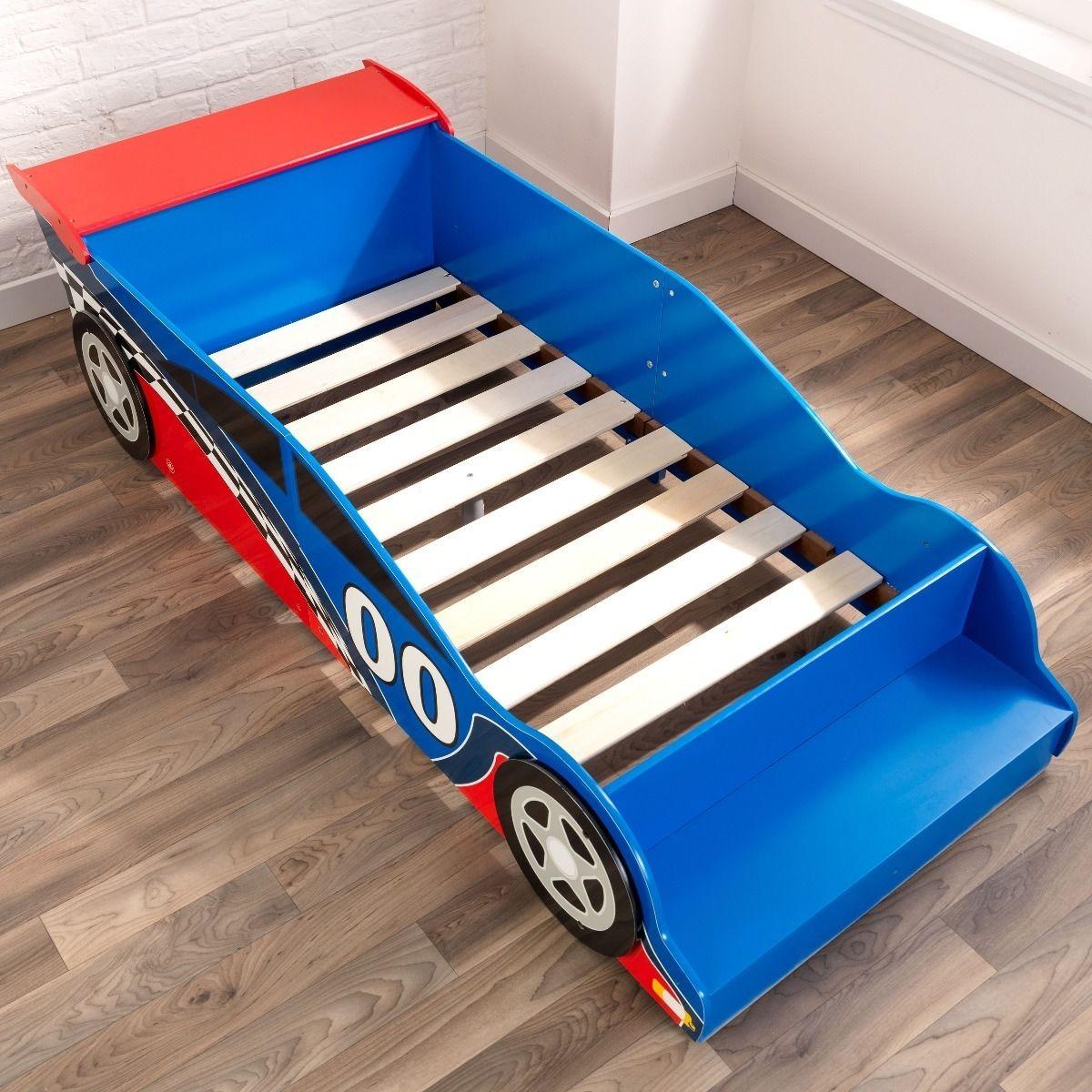 Kidkraft Race Car Toddler Bed Cama Sencilla Infantil Ninos 1 281 900 En Mercado Libre
