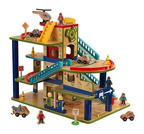 kidkraft wash n go wooden car garage playset 6g