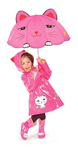 kidorable kids lucky cat umbrella pink one size