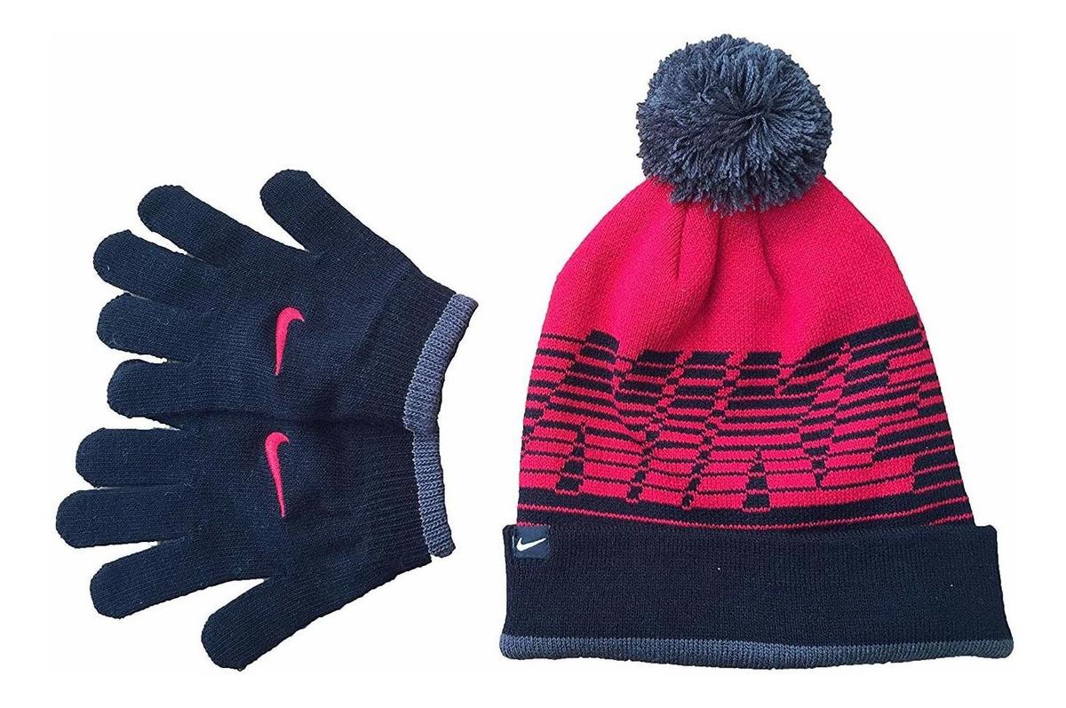 c9a3bf328 Kids' Nike Swoosh Pom Beanie Hat And Gloves Set