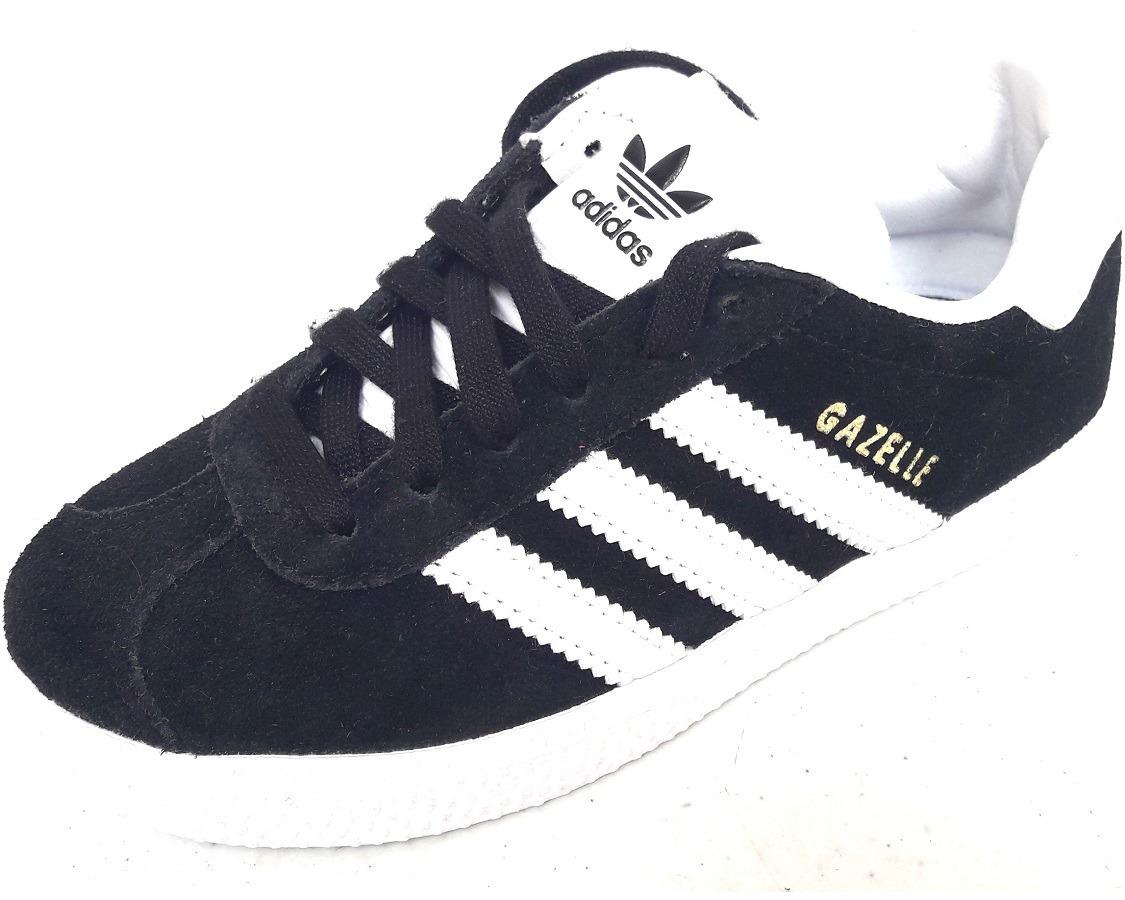 1fbf070e00 ... kids originals tenis adidas gazelle retro gamuza negro blanc. Cargando  a4ed8ee zoom.