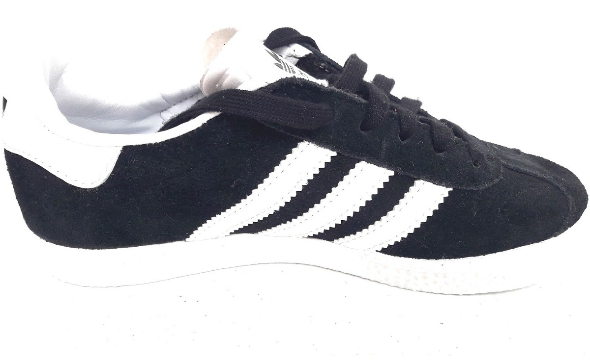 0f361cf17bb kids originals tenis adidas gazelle retro gamuza negro blanc. Cargando zoom.