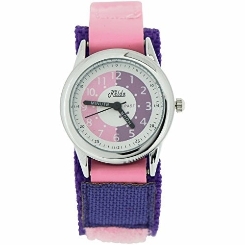 kids time teacher pink purple easy fasten niños niñas a ve
