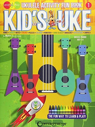 kid's uke - ukulele activity fun book: kev's learn & play