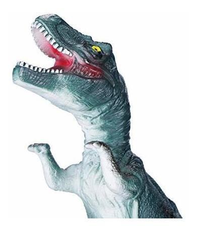 kidswon 4 pack 13plg juguetes de dinosaurio de goma con soni