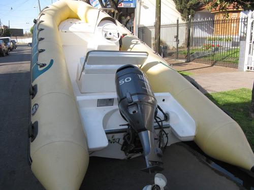 kiel 5,6 mts matrizado con yamaha 50 hp 4 entrega inmediata