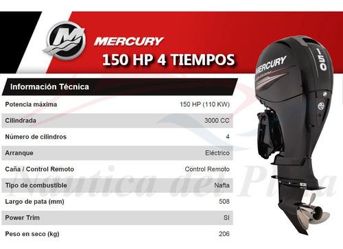 kiel 8 mts de trabajo con mercury 150 hp 4 tiempos inyeccion