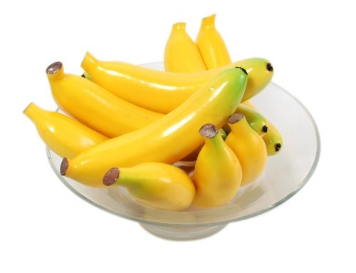 kiera grace decorativos frutas vaso enchimentos, 15 banana