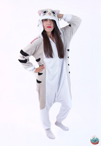 c8367f473d Kigurumi Gato Chi Cat Anime Pijamas Mamelucos Adultos Kawaii