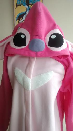 kigurumi / pijama stitch & angela (rosado) todos los tamaños