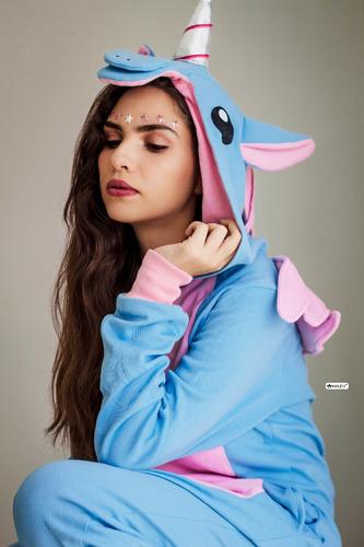 kigurumi pijama unicornio turquesa - envío incluido