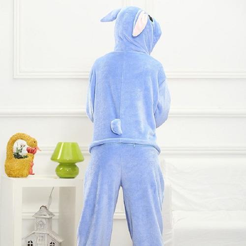 kigurumi stitch pijamas mamelucos para adultos invierno