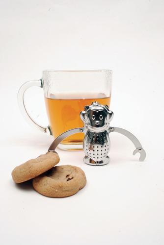 kikkerland cocina infusor de té con diseño de chango
