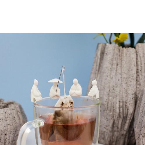 kikkerland cocina porta té diseño de pescadores 4 piezas.