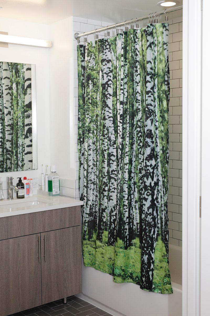 Kikkerland cortina de ba o dise o bosque de abedul en mercado libre - Cortinas de bano de diseno ...