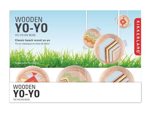 kikkerland juegos yoyo de madera tradicional assorted