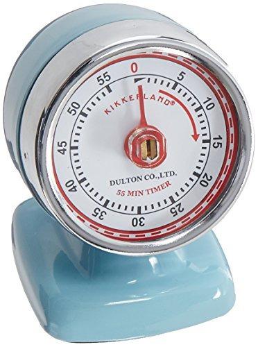 kikkerland streamline vendimia temporizador de cocina, azul