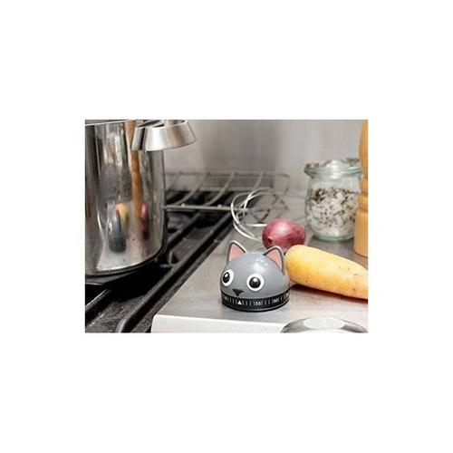 kikkerland temporizador de cocina, cat, multi + envio gratis