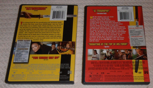 kill bill vol. 1 y  2 - tarantino (2 dvds ed u s a sub esp.)