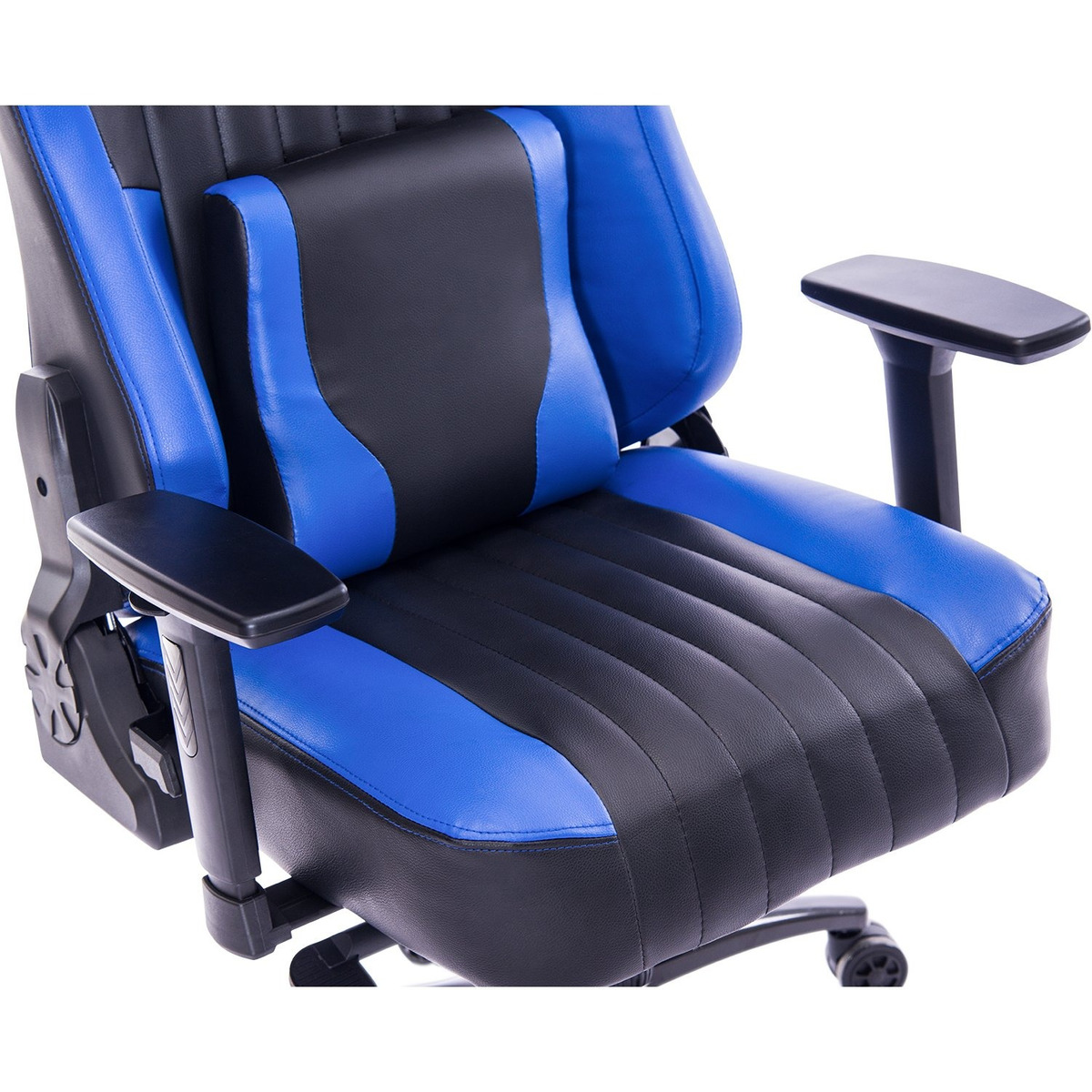 Adjustable Tilt Back Angle and 3D Arms Ergonomic High-Back Leather Racing Executive Computer Desk Office Chair Metal Base Blue KILLABEE Big and Tall 400lb Memory Foam Gaming Chair