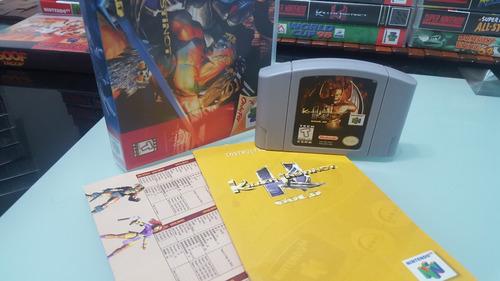 killer instinc gold 64 n64 manual original y caja plastica