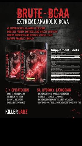 killer labz brute bcaa 60 serv. (100% original e importado)