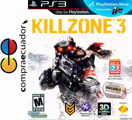 killzone 3  en 3d juegos para playstation 3  ps3 nuevos!!