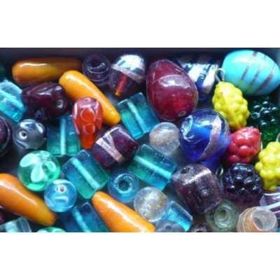 kilo cuentas vidrio surtidas importadas p/collaresaccesorios