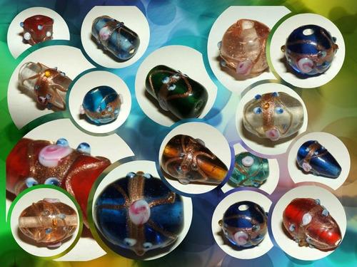 kilo surtido vidrio de murano importado armar bijouterie