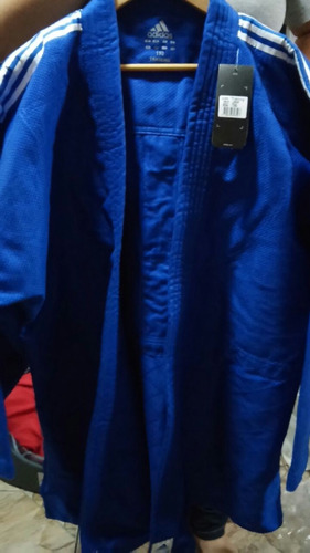 kimono adidas judo j500 training trançado azul 1,90 alt