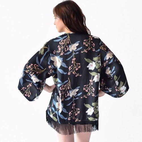 kimono blusa ropa mujer rack & pack diseño flores con barbas