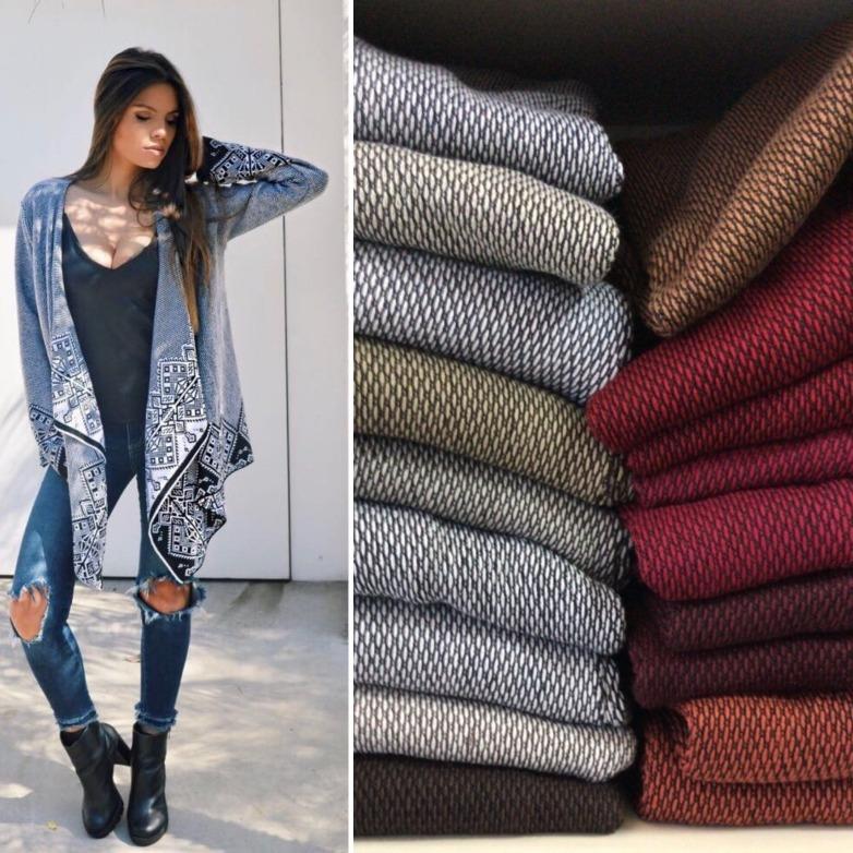 a51d3dfca Kimono Cardigan Blusa Trico Tricot Lã Feminino Inverno Boho - R  69 ...